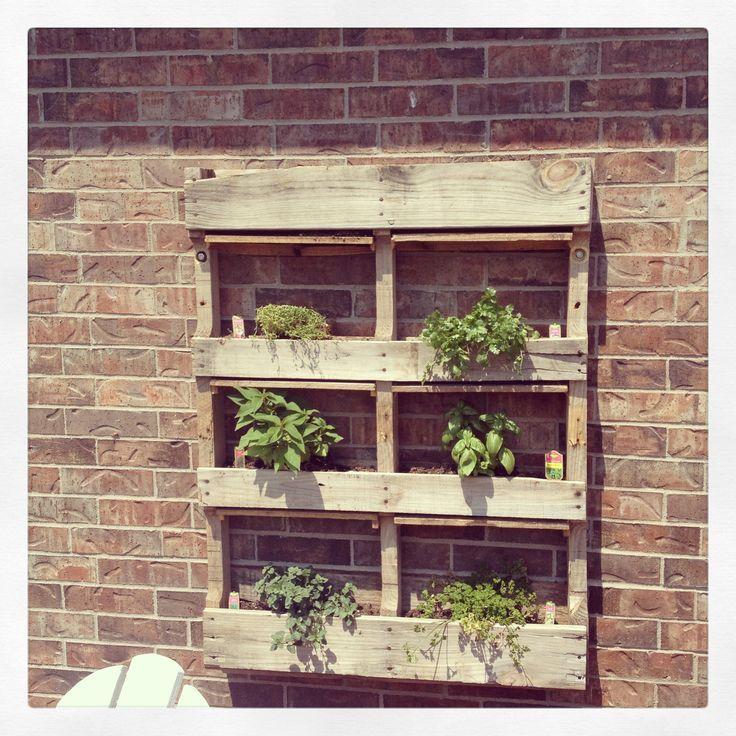 Pallet Herb Garden | Pallet herb garden
