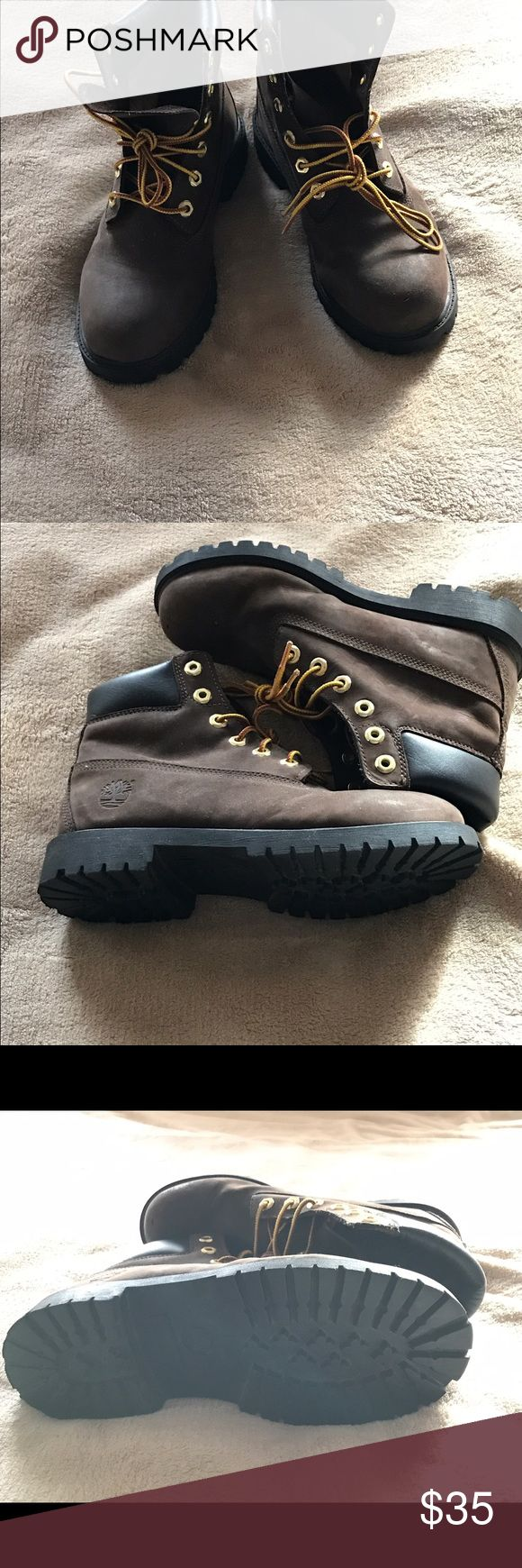 Boys timberland boots Dark brown Timberland boots almost new. Timberland Shoes Lace Up Boots