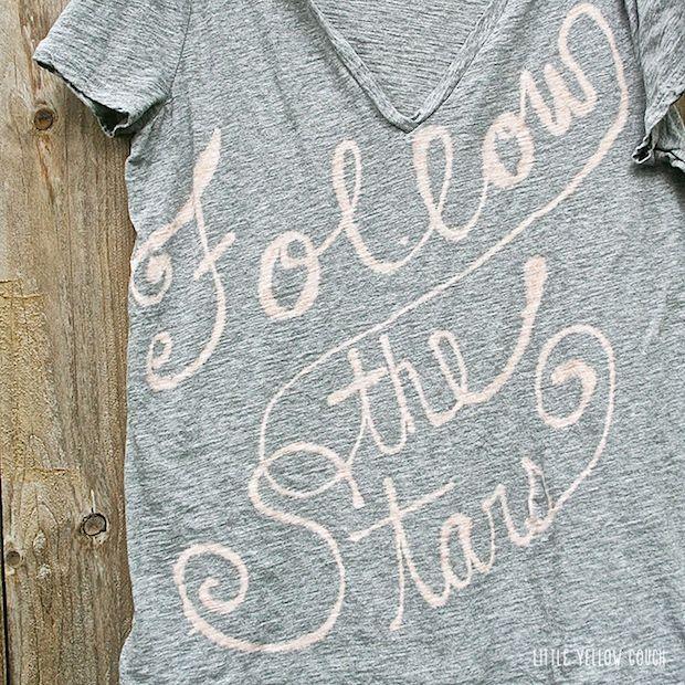 Bleach pen tshirts tutorial  littleyellowcouch_bleach_pen_shirts_01