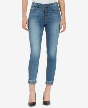 WILLIAM RAST Plus Size Embroidered High-Rise Denim Shorts