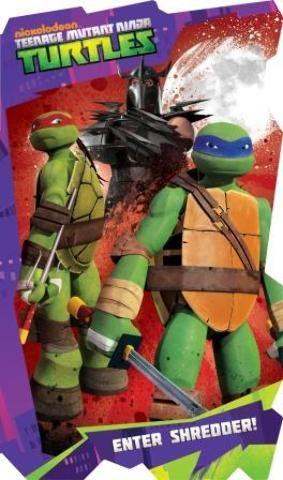 Teenage Mutant Ninga Turtles 5 x 8 Shaped Board Case Pack 96