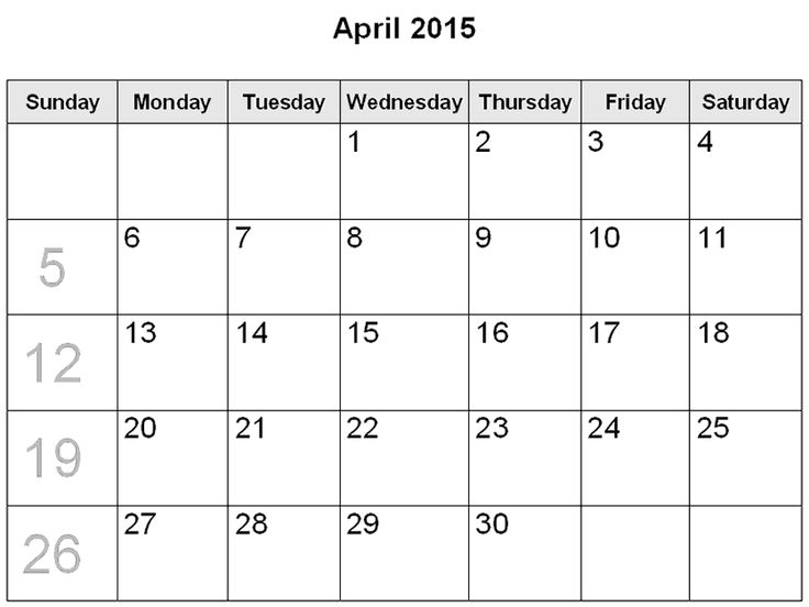Best Collection of Calendar 2015 April. April 2015 Calendar With Holidays & April Fool 2015 Calendar Printable Pdf, Template, Design, Word, Excel, Doc.