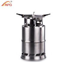 APG Portable Wood Stove Foldable Camping Backpacking Solidified Alcohol Stove