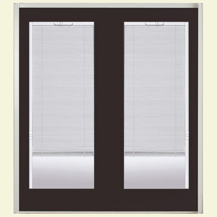 Masonite 72 in. x 80 in. Willow Wood Prehung Right-Hand Inswing Mini Blind Steel Patio Door with No Brickmold, Willow Wood (Ecc-41-2)
