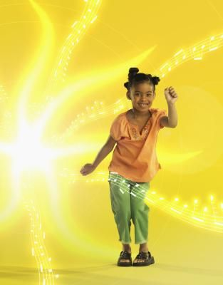 Zumba exercises for preschool children.