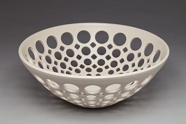 Pierced Fruit Bowl by Lynne Meade: Ceramic Bowl available at www.artfulhome.com