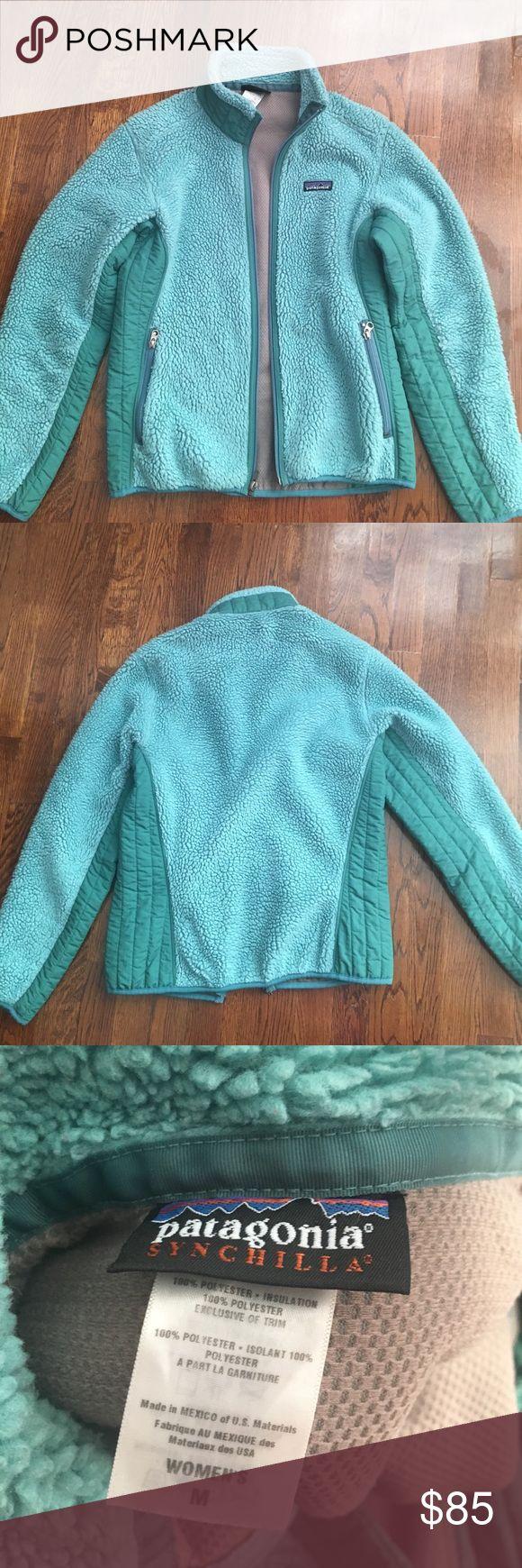Patagonia Synchilla jacket M Women's M Patagonia Synchilla jacket. EUC. Smoke and pet free home. Pretty shade of green. Fits more like a small. Patagonia Jackets & Coats Utility Jackets