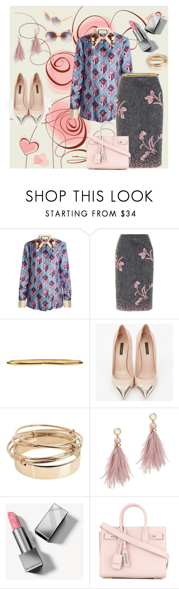 """""""Be my valentine"""" by walerie ❤ liked on Polyvore featuring Gucci, Prada, Carla G., Louis Vuitton, Valentino, Lizzie Fortunato, Burberry, Yves Saint Laurent and BP."""