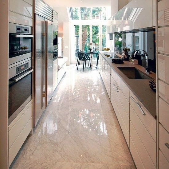 Michelle - Blog #A #long, #narrow #kitchen Fonte : http://www.housetohome.co.uk/room-idea/picture/galley-kitchens-10-of-the-best/9