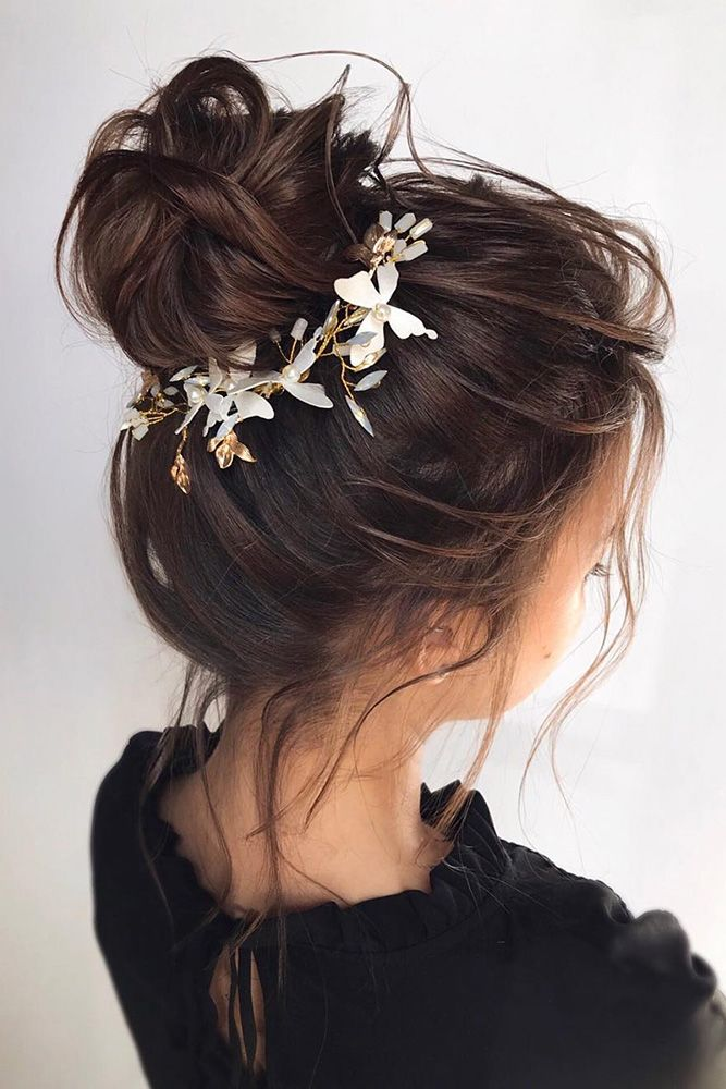 27 Ways To Wear Wedding Flower Crowns Hair Accessories Braided Hairstyles For Wedding Long Hair Styles Romantic Hairstyles