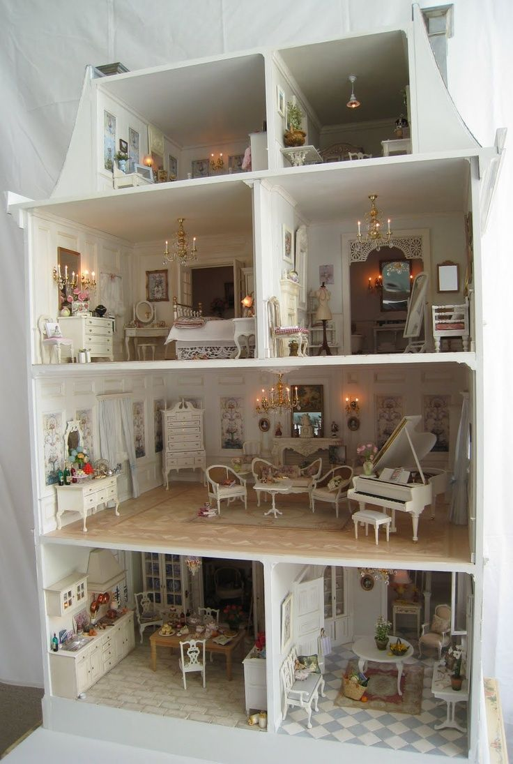 74 Best Images About Lovely Doll Houses On Pinterest