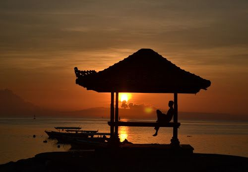 Sunrise by Mirna Rizka - Landscapes Sunsets & Sunrises ( sunset, sea, sunrise, beach )