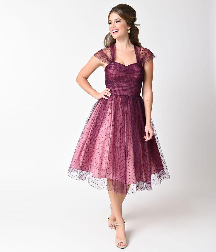 1950s Formal Dress Mesh Overlay