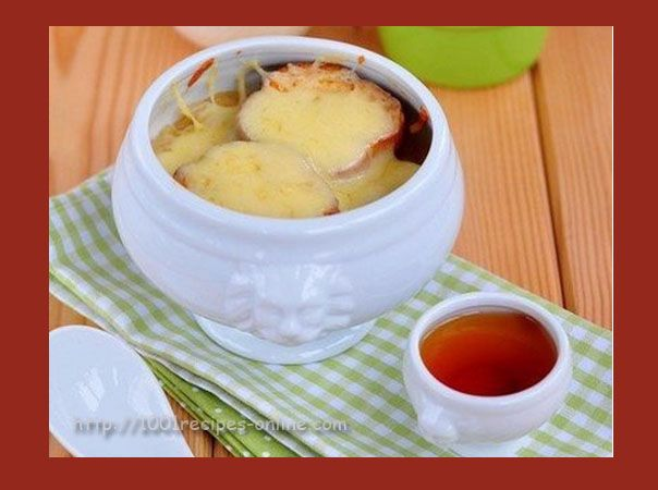 French onion soup with cognac