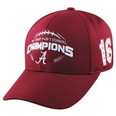 Alabama Crimson Tide Top of the World College Football Playoff 2015 National Champions 16-Time Champions Booster Flex Hat - Crimson