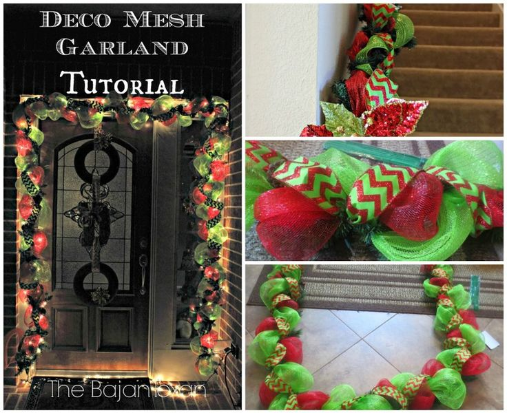 DIY Deco Mesh Garland (Holiday Decor Series)