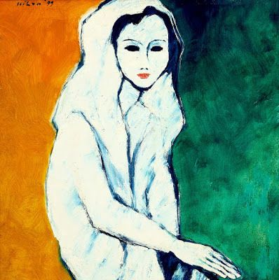 """Nuriah"" by Jeihan Sukmantoro, Size: 70cm X 70cm, Medium: Oil on canvas, Year…"