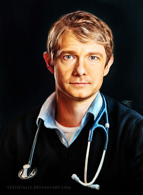 Dr. John Watson // this would be the portrait in the waiting room. everyone tells john he looks really tired, he tries not to guess whether they mean the picture or him as compared to the picture. Which he doesn't like.