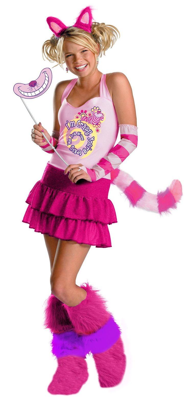 Alice In Wonderland Cheshire Cat Adult Costume  Costumes -9404
