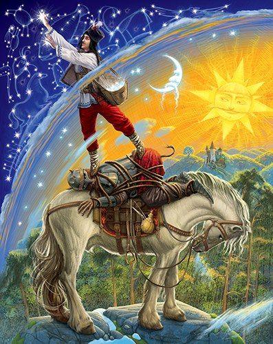 Ukrainian artist / Інокентій Коршунов / Ukrainian Fairy Tales illustrated by Innokenty Korshunov