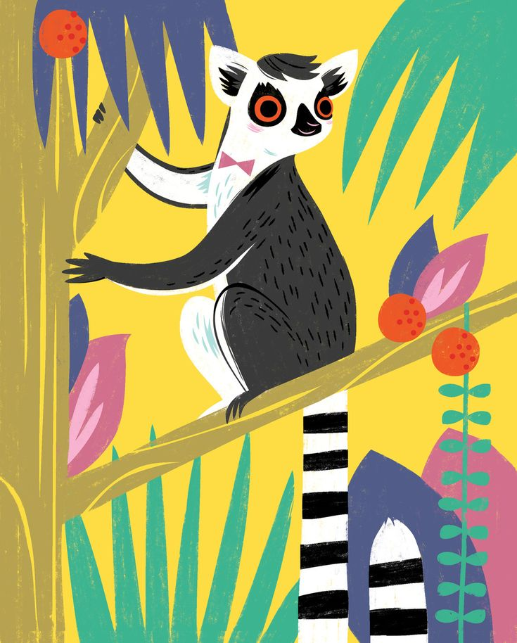 Lemur Art Print - Hooray Today