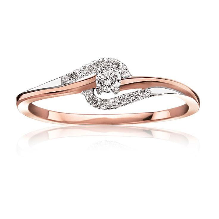 Diamond Promise Ring In 10 Karat Rose Gold Summer 2015