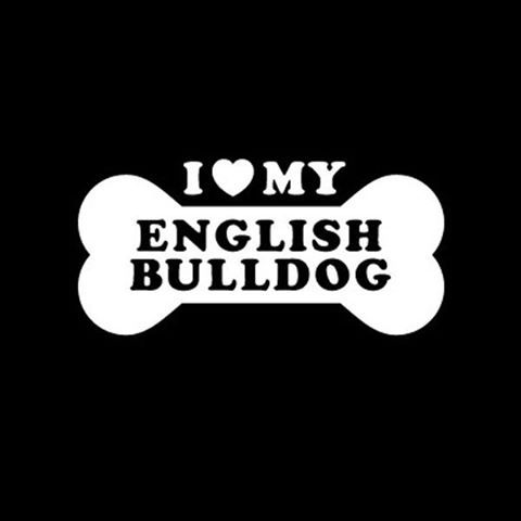 I ♥ my English Bulldog #dogs #englishbulldog I could make you one of these car @Christine Carli Noble