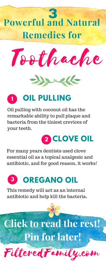 I suffered with toothaches until I discovered the natural remedies. These totally work and can get you through a painful toothache until you can get help. -- Infographic -3 Powerful and Natural Remedies for Toothaches | via FilteredFamily.com