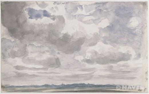 짙은 흰 구름과 회색 구름이 덮힌 하늘 습작 (Etude de ciel avec gros nuages blancs et gris)