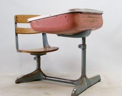 Vintage retro styled school desk    love this!