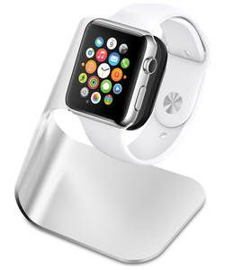 Apple Spigen Watch Stand S330 - Silver.: The Watch Stand for the Apple Watch is constructed of flexible TPU and premium aluminum for a…