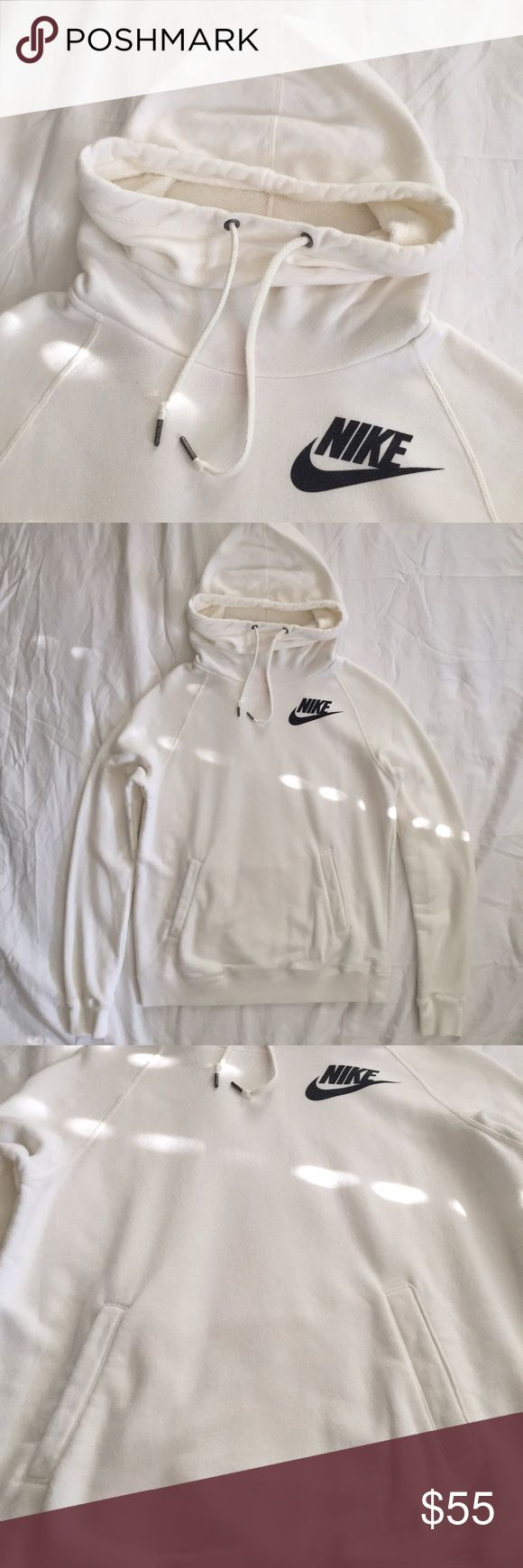 Nike Women's High Collar Hoodie Nike High Collar Hooded Sweater with Draw String and Kangaroo Pocket. Great condition! No holes stains or rips! Nike Sweaters