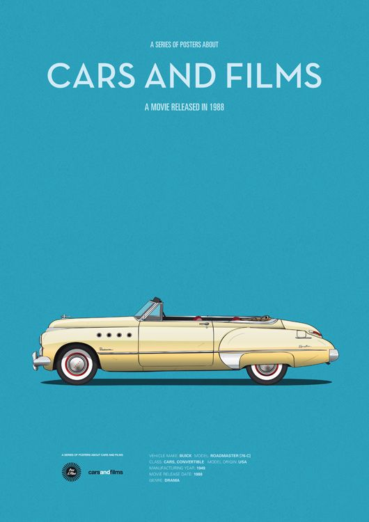 Rain Man (1988) ~ Minimal Movie Poster by Jesus Prudencio ~ Cars and Films Series