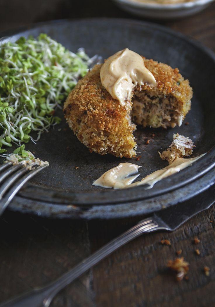 Crabcake & mayonnaise épicée