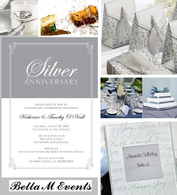 25th Wedding Anniversary Centerpiece Ideas: 25th Wedding Anniversary Party Planning