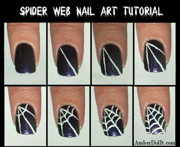 put the web just one one nail! 20 Tutorials for Stylish Nails