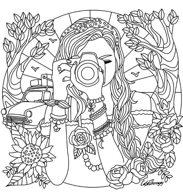 Face Painting Examples In 2021 Detailed Coloring Pages, Coloring Pages  For Teenagers, Cute Coloring Pages