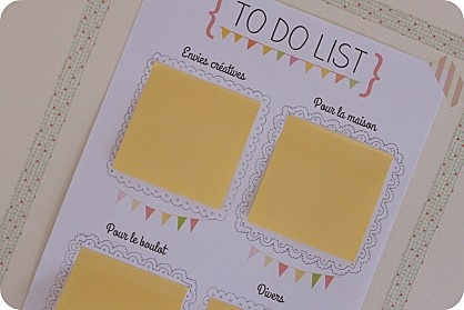To do list + post-it = le combo gagnant !!