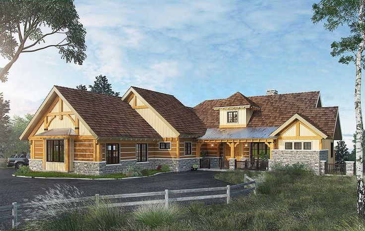 walkout basement with architectural designs house plan 12950kn making