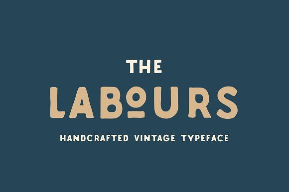 Labours Handcrafted Typeface by akufadhl on @creativemarket