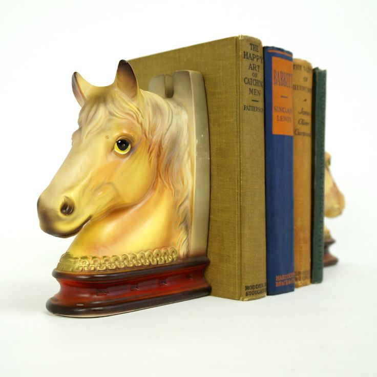 Vintage Japan Ceramic Horse Head Horse Shoe Bookends VGC / Country Western, Equestrian, Southwestern Decor by AttysVintage on Etsy