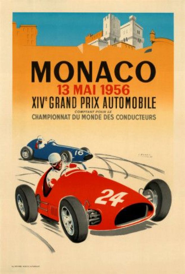 20x30 Monza Grand Prix Vintage Style Formula Race Car Poster