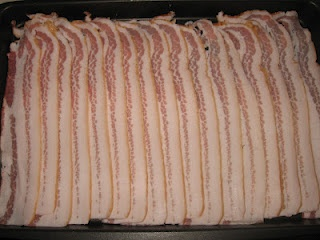 Pre-cooked bacon - I keep in freezer, then heat up for 5 minutes in toaster oven for sandwiches, etc.