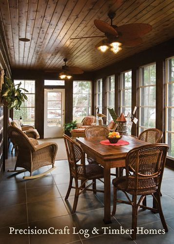 71 best images about our log home sunroom on pinterest for Timber frame sunroom addition
