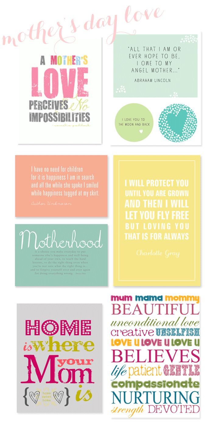 Free Mother's Day Printables Round Up by Ashlee Proffitt Design