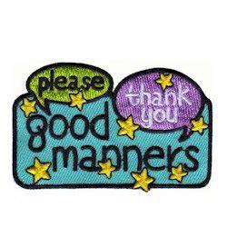 Good Manners Fun Patch - MakingFriendsMakingFriends