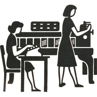 Gerd Arntz designed around 4000 signs, which symbolized key data from industry, demographics, politics and economy, for the visual language Isotype