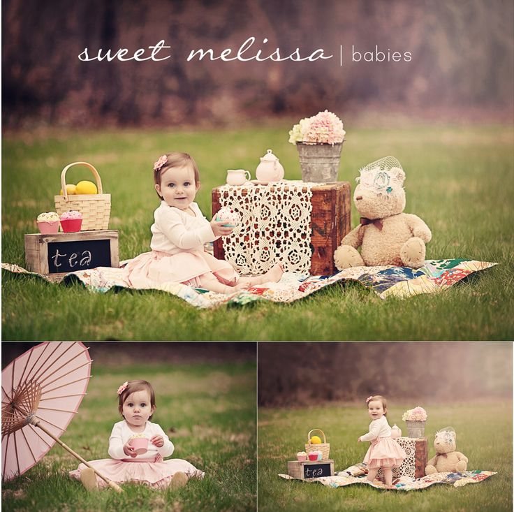 picnic diy baby photography props