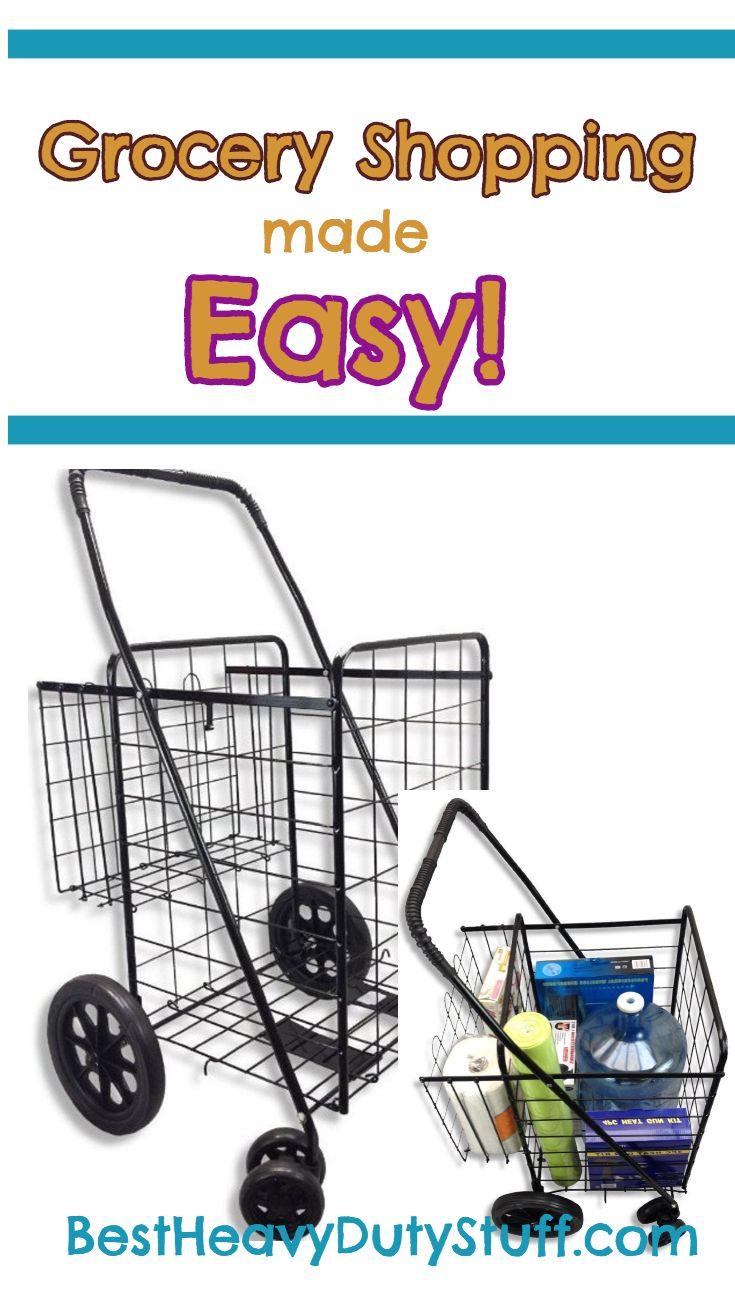 2019] Best Heavy Duty Folding Shopping Carts with Swivel ...