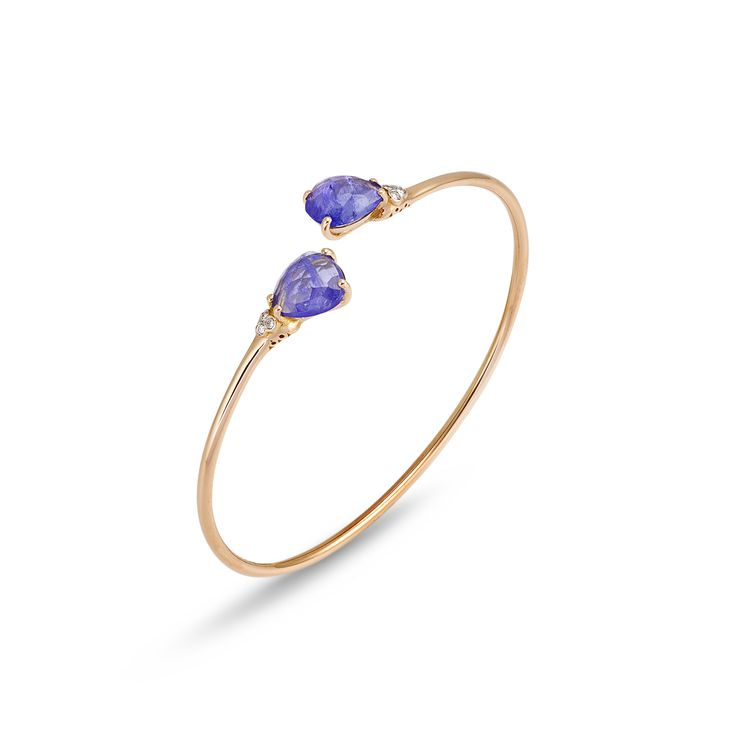 Bracelet from iside collection in rose gold and tanzanite